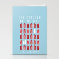 catcher in the rye Stationery Cards featuring The Catcher in the Rye by BaconFactory