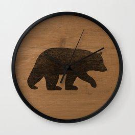 Black Bear Silhouette Wall Clock