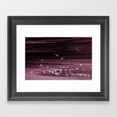The purple gull-scape Framed Art Print
