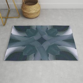 Blue Stars and Bars Rug