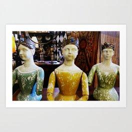 Lady statues Art Print