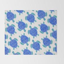 Sea Turtle – Blue Palette Throw Blanket