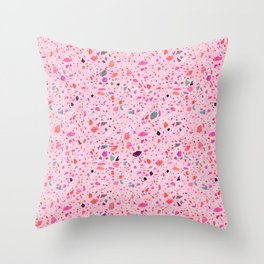 Terrazzo pink and purple Throw Pillow