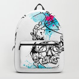 Abstract skull Backpack