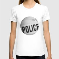 police T-shirts featuring Police Line by GF Fine Art Photography