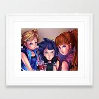 powerpuff girls Framed Art Prints featuring Powerpuff Girls Z by Midnight Tardis