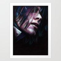 noir Art Prints featuring Noir by Jeanne