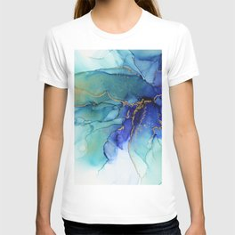 Electric Waves Violet Turquoise - Part 2 T-shirt
