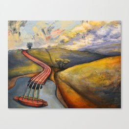 Strung Along Canvas Print