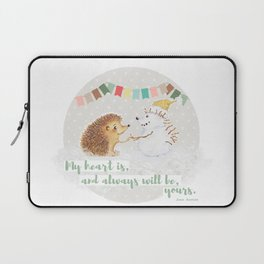 Winter Woodland: My Heart is Yours - Grey Laptop Sleeve