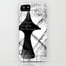 The Pen is Mightier Than The Sword iPhone Case