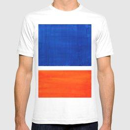 Colorful Bright Minimalist Rothko Orange And Blue Midcentury Modern Art Vintage Pop Art T-shirt