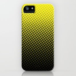 Halftone in Black and Yellow :) iPhone Case