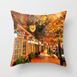 Gordonsville, Virginia a Night Throw Pillow
