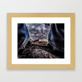 Kickin With Simplicity Framed Art Print