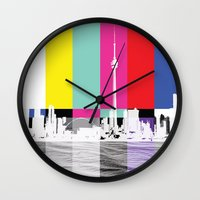 toronto Wall Clocks featuring Toronto by Shazia Ahmad