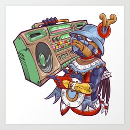 Tezcatlipoca Old School Hip Hop Art Print