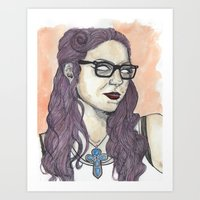 oitnb Art Prints featuring Vause OITNB by Ashley Rowe