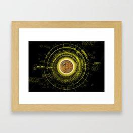 Bitcoin Blockchain Cryptocurrency Framed Art Print