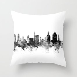 Durham North Carolina Skyline Throw Pillow