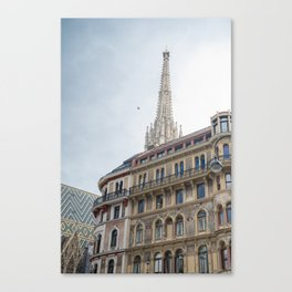 St stephen Cathedral Vienna Austria 2 sky bird Canvas Print