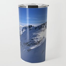 Blue and white beauty of the mountains Travel Mug