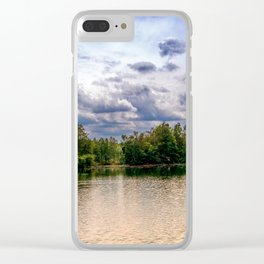 Concept nature : Relaxing by a lake Clear iPhone Case