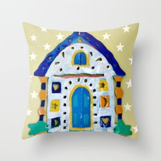 Little House of Stars Throw Pillow