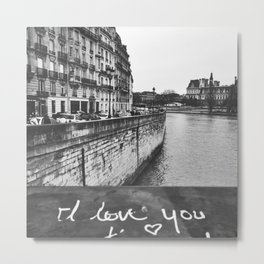Paris Je T'Aime / Paris I Love You Metal Print