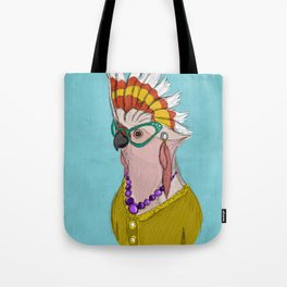 Sophisticated Bird Print Tote Bag