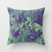 chemistry Throw Pillows featuring Chemistry by Adaralbion