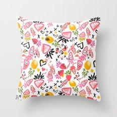 Fun Fruits Throw Pillow
