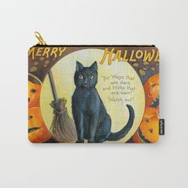 Merry Halloween Black Cat Carry-All Pouch