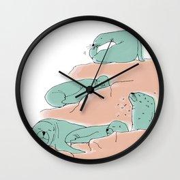 Sealions sleep Wall Clock