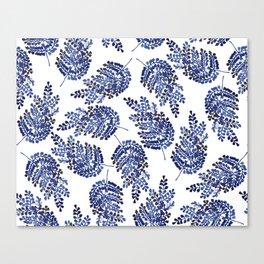 Cobalt Fern Canvas Print