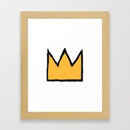 Crown of Basquiat Framed Art Print