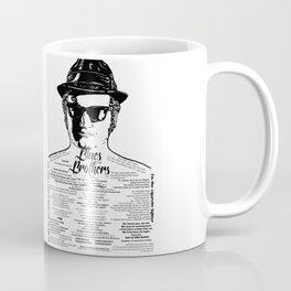 Jake Blues Brothers tattooed 'Four Fried Chickens' Coffee Mug