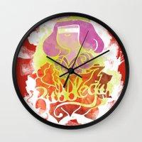 bubblegum Wall Clocks featuring Bubblegum by Saravo Studio