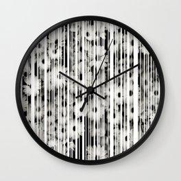 Flower Bars Wall Clock