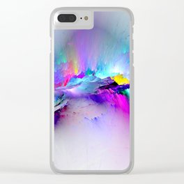 Unreal Rainbow Explosion Clear iPhone Case
