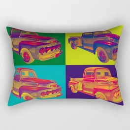 Colorful 1951 Ford F-1 Pickup Truck Pop Art  Rectangular Pillow