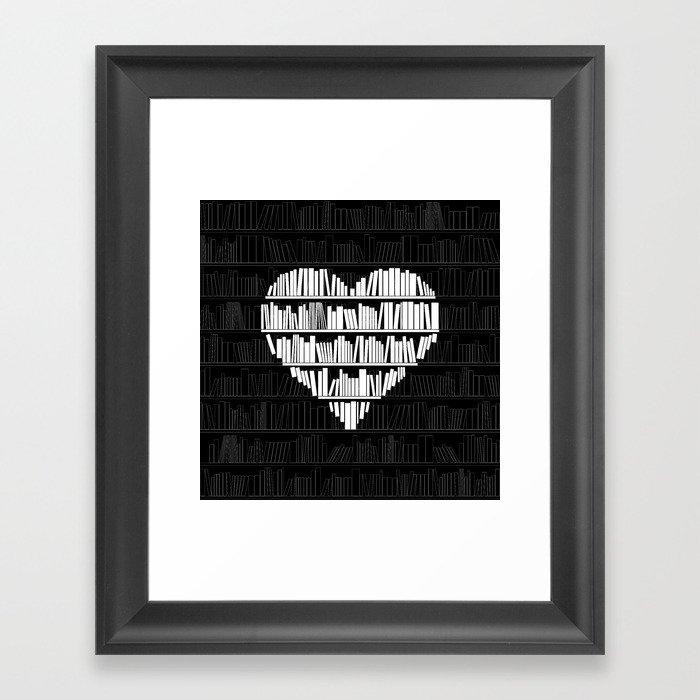 Book Lover Gerahmter Kunstdruck