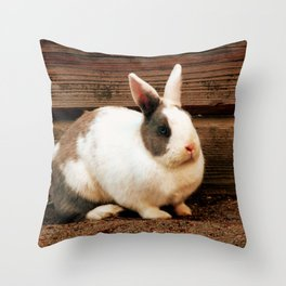 Two Tone Rabbit Throw Pillow
