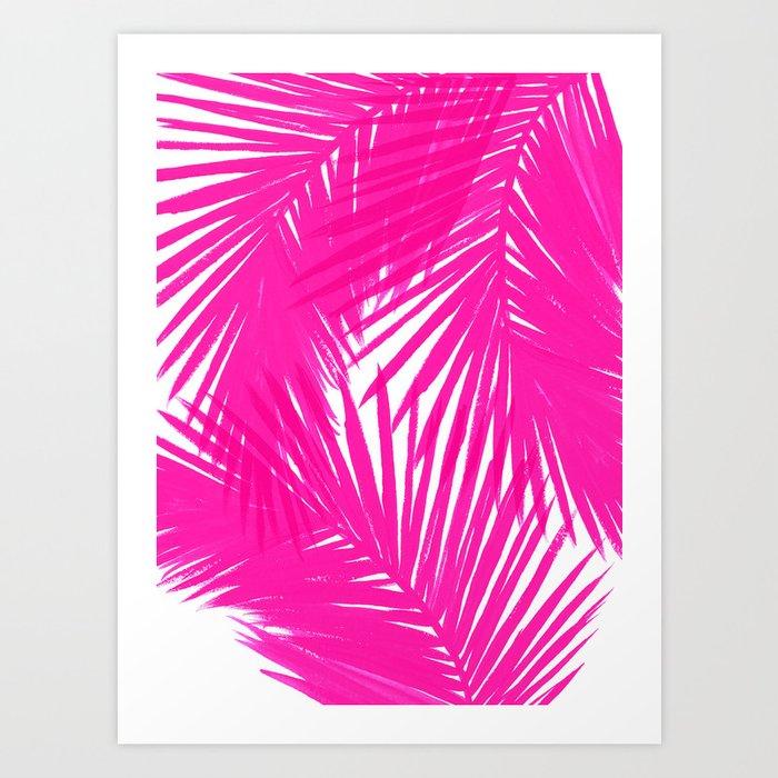 Palms Fuchsia Art Print