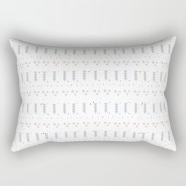 Minimal Pattern :: Triangles + Dots Rectangular Pillow