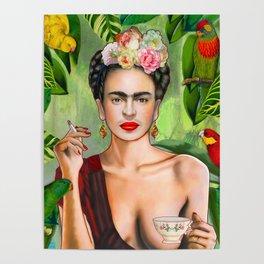 Frida con Amigos Poster