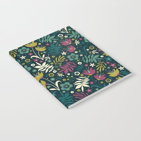 Midnight Florals (pop) Notebook