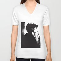 dreamer V-neck T-shirts featuring Dreamer by Cat Milchard