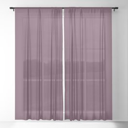 Eggplant Sheer Curtain