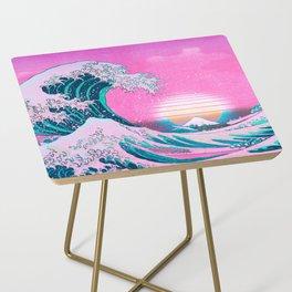 Vaporwave Aesthetic Great Wave Off Kanagawa Side Table